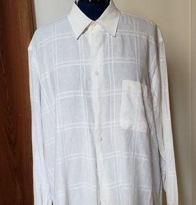 Mens Brioni 100% linen long sleeve shirt